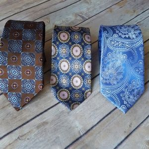3 Pack of 100% Silk Gorgeous Men's Ties